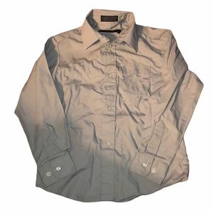 Dockers boys gray long sleeve button down size 7